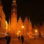 Der Marktplatz (Rynek) von Breslau/Wrocław bei Nacht. Foto: Konny Kellner