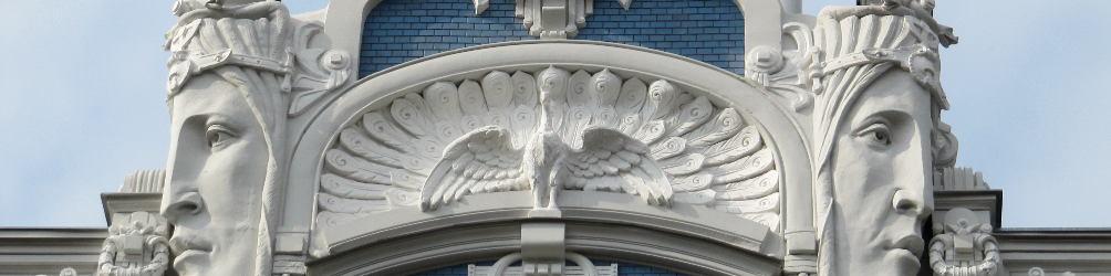 Jugendstilfassade in Riga. Foto: Annekathrin Rauschenbach