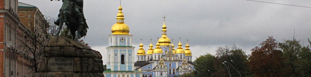 Goldene Kuppeln in Kiew (Michaelskloster). Foto: Sondra Wentzel