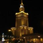 Warschau: Kulturpalast bei Nacht. Foto: Sybille Heeg