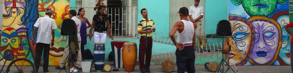 Straßenmusik auf Kubas Straßen. Foto: Anke Biedenkapp