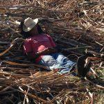 Kuba: Schlafender mit Hut. Foto: Anke Biedenkapp