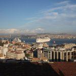 Istanbul: Blick über Stadt und Bosporus.
